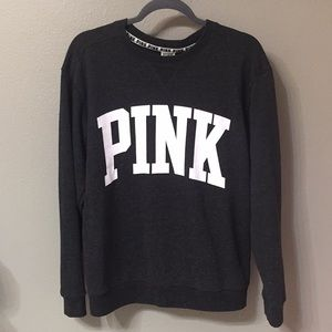 VS pink lightweight crew pullover